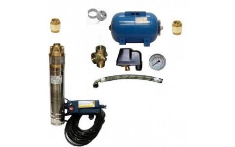 Vodárna s čerpadlem 4 SKM 100 s 15m kabel + Subsystem 24l