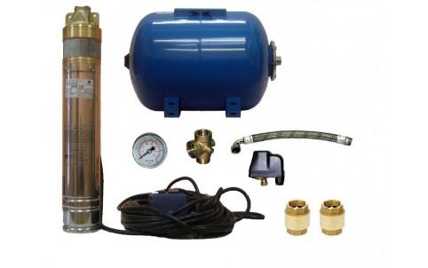 Vodárna s čerpadlem 4 SKM 150 s 25m kabel + Subsystem 50l